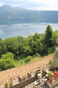 Patio Chairs with a View of Lake Albano